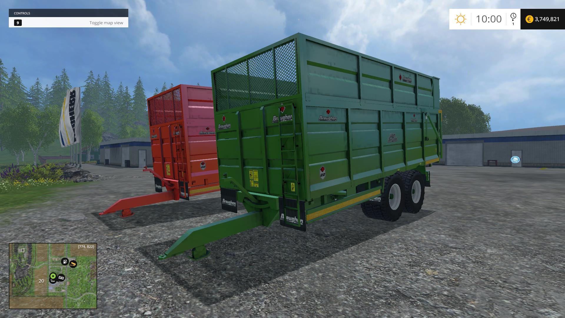 BROUGHAN SILAGE TRAILER V1 • Farming simulator 19, 17, 15 mods
