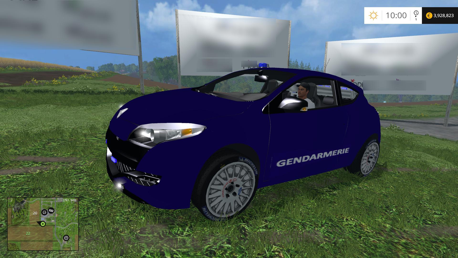 megane rs gendarmerie farming simulator 17 19 mods. Black Bedroom Furniture Sets. Home Design Ideas