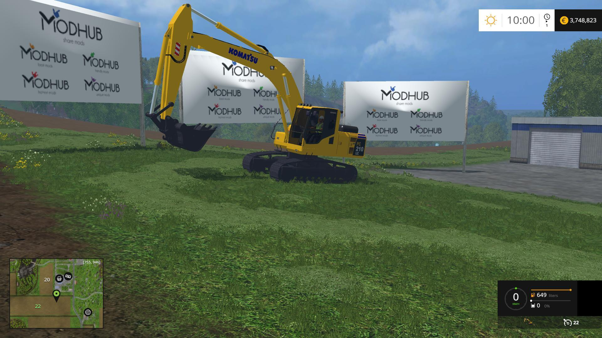 komatsu pc 210 lc v2 farming simulator 17 19 mods fs17. Black Bedroom Furniture Sets. Home Design Ideas